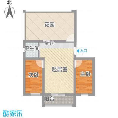 长江花园106.00㎡长江花园2室户型2室