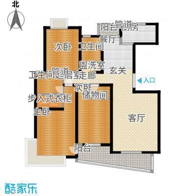 圣雅园·丽景156.00㎡主力户型1——标准层D3户型10室