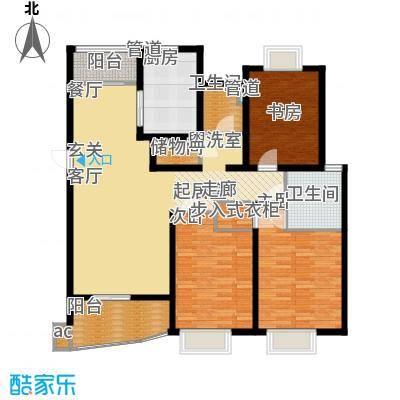 圣雅园·丽景129.90㎡通透轩昂B2标准层(已售完)户型3室2厅2卫1厨