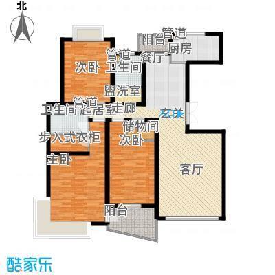 圣雅园·丽景130.56㎡(已售完)户型3室2厅2卫1厨