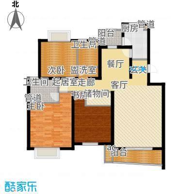圣雅园·丽景130.70㎡宽景舒朗A标准层(已售完)户型3室2厅2卫1厨