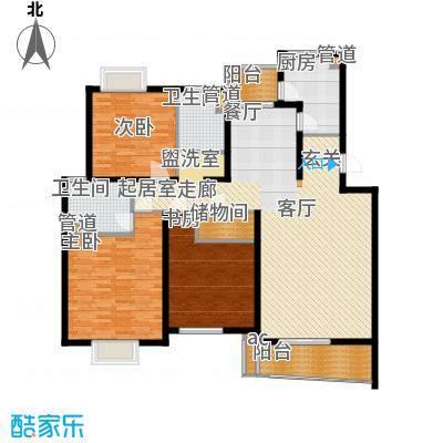 圣雅园·丽景151.00㎡尊贵大方D标准层(已售完)户型3室2厅2卫1厨