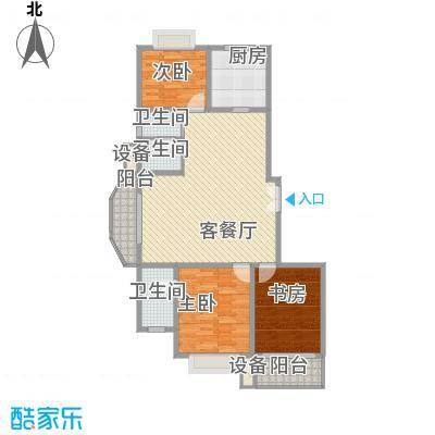 嘉禾花园128.84㎡嘉禾花园户型图D型(已售完)3室2厅2卫1厨户型3室2厅2卫1厨