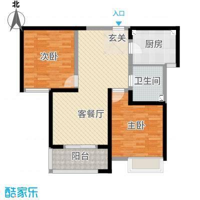 九龙仓时代上城88.00㎡擎天半岛超高层户型2室2厅1卫
