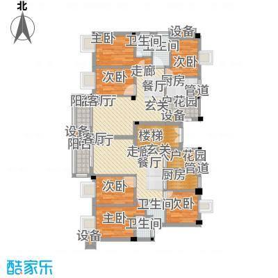 金嘉名筑116.00㎡二期C区小高层三房户型3室2厅2卫1厨