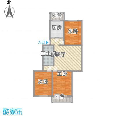 天泰新景温泉小区106.99㎡B户型3室2厅1卫1厨