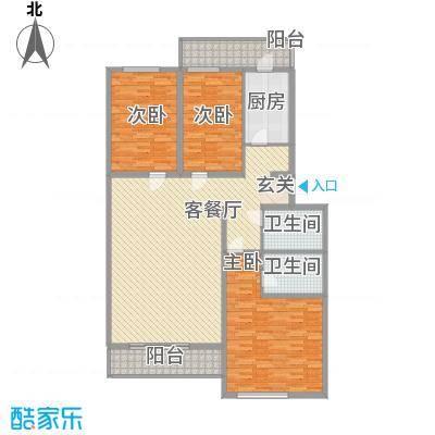 沁春家园182.24㎡H标准层户型4室2厅2卫1厨