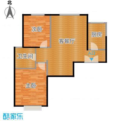 京贸国际城88.89㎡3#楼-E5反户型2室1厅1卫1厨