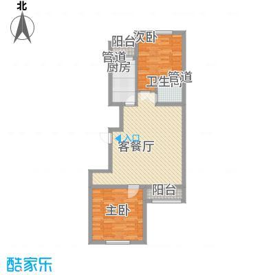 上奥世纪中心上奥6号A反(售罄)户型2室2厅1卫1厨