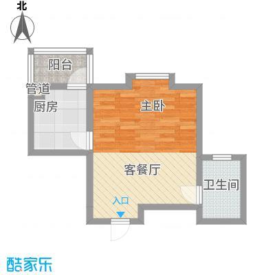上奥世纪中心50.91㎡G/G反(售罄)户型1室1厅1卫1厨