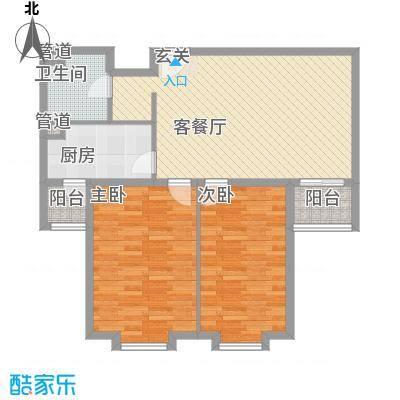 上奥世纪中心106.44㎡C/C反(售罄)户型2室2厅1卫1厨