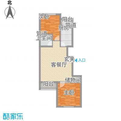 上奥世纪中心上奥6号A(售罄)户型2室2厅1卫1厨