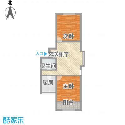 上奥世纪中心102.22㎡H户型(售罄)户型2室2厅1卫1厨