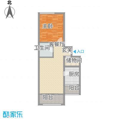 上奥世纪中心94.51㎡J/J反(售罄)户型1室2厅1卫1厨