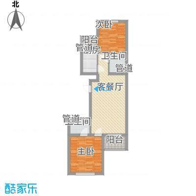 上奥世纪中心88.85㎡bH反户型2室2厅2卫1厨