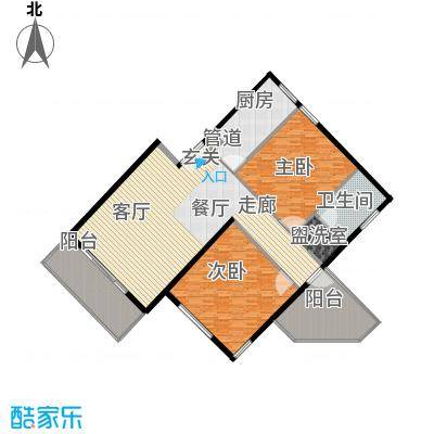 西山美墅馆公寓168.00㎡西山美墅馆户型2室2厅1卫1厨