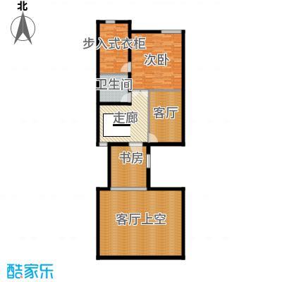 领秀新硅谷别墅116.95㎡独栋别墅二层户型2室1厅1卫