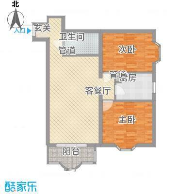 中鑫国际101.48㎡G户型2室1厅1卫1厨