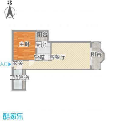 中鑫国际71.15㎡D户型1室1厅1卫1厨