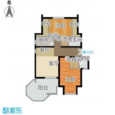 学风191191.36㎡户型2室1厅2卫1厨
