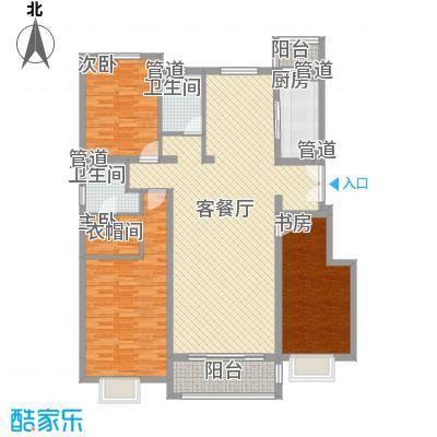 正源・尚峰尚水源墅153.00㎡B4、B5号楼F户型图(售罄)户型3室2厅2卫1厨