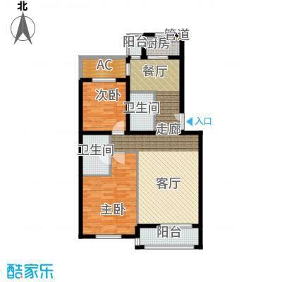 学风191198.41㎡户型2室2厅2卫1厨