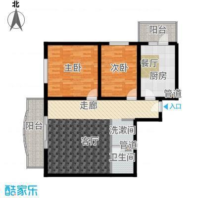 怡清园103.28㎡三号楼A户型2室1厅1卫1厨