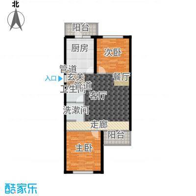 怡清园95.42㎡三号楼C户型2室1厅1卫1厨
