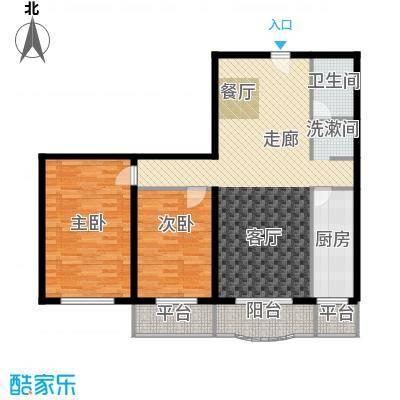 怡清园114.90㎡三号楼B户型2室2厅1卫1厨