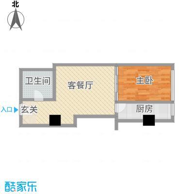 苏州街33号公寓61.06㎡2-11层8房间户型1室1厅1卫1厨