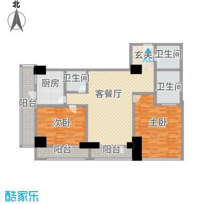 苏州街33号公寓172.77㎡2-11层3房间户型3室2厅2卫1厨