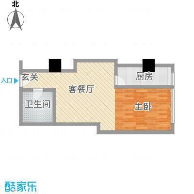 苏州街33号公寓62.12㎡2-11层5房间户型1室1厅1卫1厨