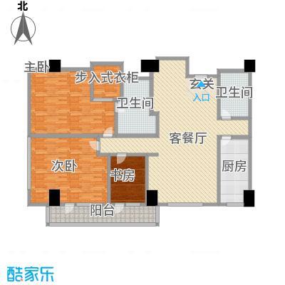 苏州街33号公寓202.74㎡2-11层2房间户型3室2厅2卫1厨