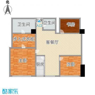 苏州街33号公寓181.07㎡13层03房间户型2室2厅2卫1厨
