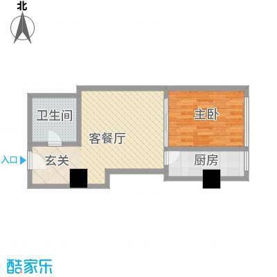 苏州街33号公寓61.06㎡2-11层6房间户型1室1厅1卫1厨