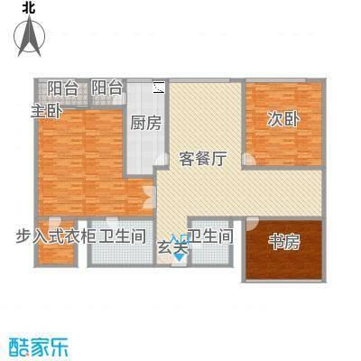 苏州街33号公寓230.44㎡13层06房间户型3室2厅2卫1厨