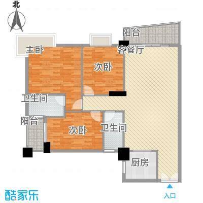 新城国际176.00㎡新城国际4室户型4室