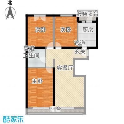 紫城嘉园103.10㎡A6标户型3室2厅1卫1厨