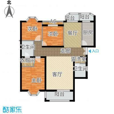 学风1911130.40㎡户型3室2厅2卫1厨