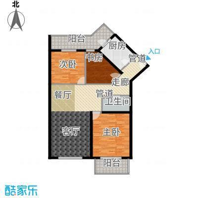 怡清园125.99㎡三号楼M户型3室1厅1卫1厨