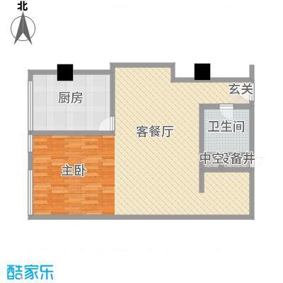 苏州街33号公寓96.56㎡2层16房间户型1室2厅1卫1厨