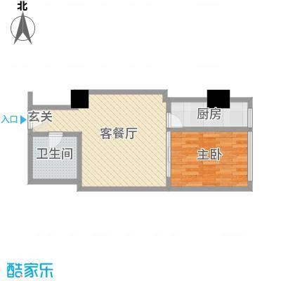 苏州街33号公寓60.21㎡2-11层9房间户型1室1厅1卫1厨