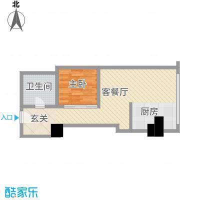 苏州街33号公寓61.06㎡2层10房间户型1室1厅1卫1厨