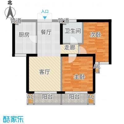 牡丹园丙28号院户型2室2厅1卫1厨