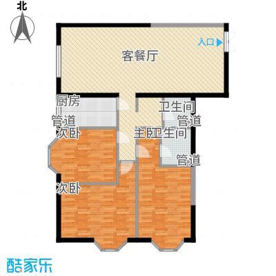 百环硅谷香林151.16㎡E户型3室2厅2卫1厨