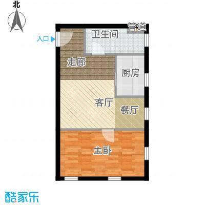 桐梓坡小区43.00㎡1室1厅户型1室1厅1卫1厨