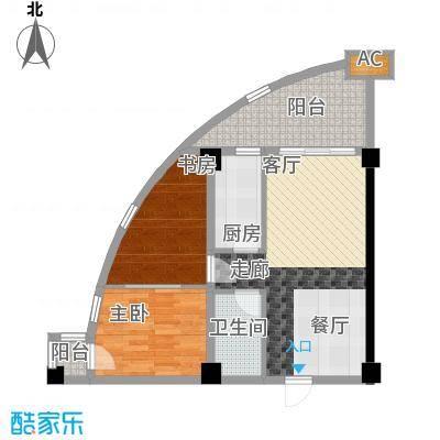 天骄福邸84.66㎡A7公寓户型1室1厅1卫