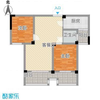 枫树园二期2室2厅户型2室2厅1卫1厨