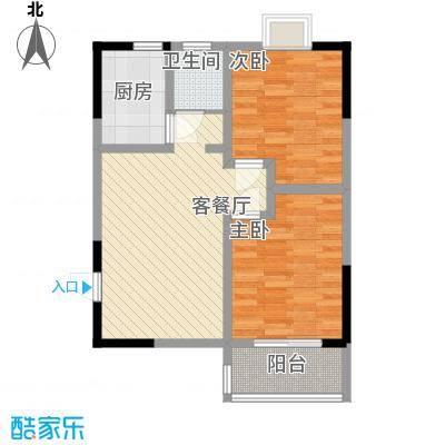 枫树园二期2室1厅户型2室1厅1卫1厨