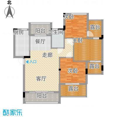 南山・苏迪亚诺104.00㎡104-109㎡户型3室2厅1卫